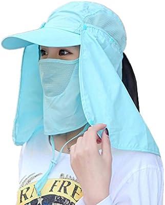 Angeln Sonnenhut Wandern Jagd UV Schutz mit Gesicht Maske Atmungaktiv