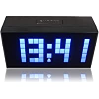 RioRand® Digital Large Big Jumbo LED Snooze Wall Desk Alarm Day of Week Calendar Clock Blue(size:170mm*85mm*55mm)