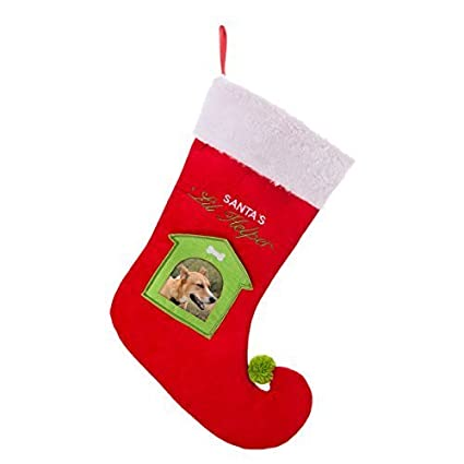 Amazoncom Pet Stocking With Photo Insert Pouch Pet Supplies