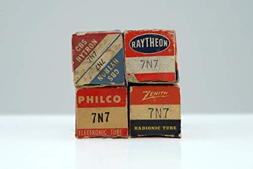 (4 Vintage 7N7 / CV898 Loctal Twin Triode Preamp Tube Valve - BangyBang Tubes)