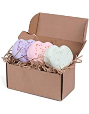 Made from Nature Heart Shaped Bath Bomb Gift Pack (3 pieces), Handmade in Australia, All Fresh Ingredients All Natural All Organic – VEGAN Bath Bombs