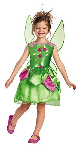 UHC Disney Girls Tinker Bell Theme Outfit Toddler Child Halloween Costume, Child M (7-8)