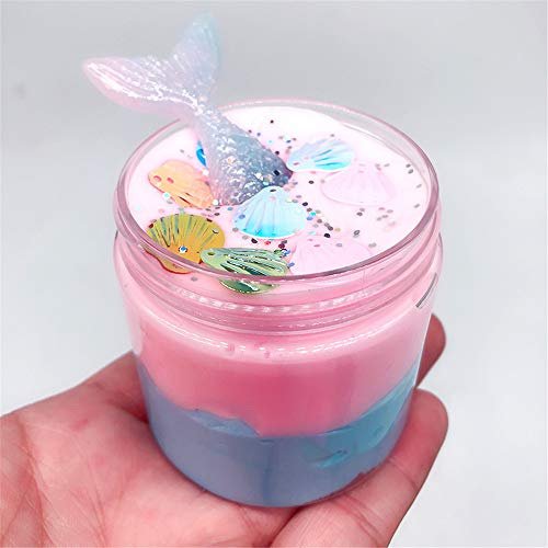 Gift 2019 Beautiful Mermaid Mud Mixing Cloud Slime Putty Scented Stress Kids Clay Toy (Belt Clays)