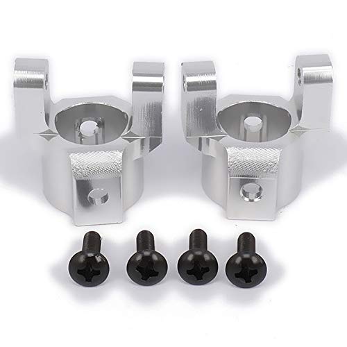 ShineBear 2PCS Auminum c hub Carrier (l/r) for rc Hobby Model car axial scx10 Hop-up Upgraded Parts Accs SCX0002Y AX30494Y - (Color: Silver) from ShineBear