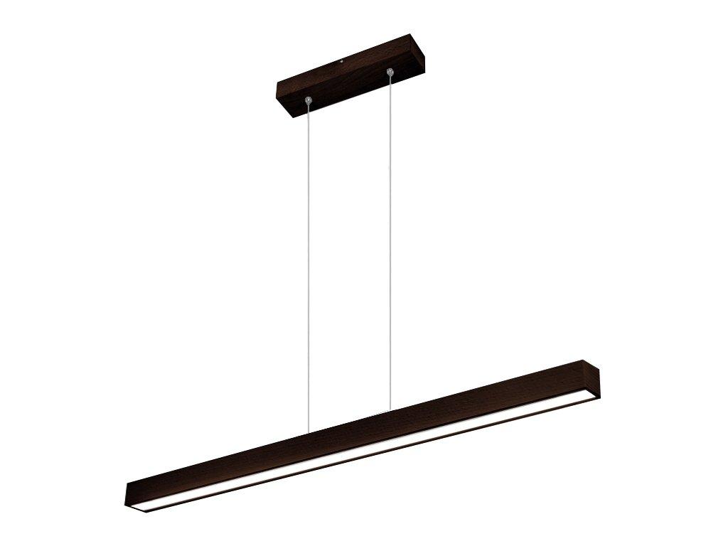 LED Hängeleuchte HausLeuchten LED100KB-3000K-WENGE aus Massivholz 100cm   1658lm   Warmweißes Licht (3000 K) Deckenlampe ,Deckenleuchte, Pendelleuchte, Leuchte, Lampe (WENGE (dunkel braun) - Warmweißes Licht (3000 K))