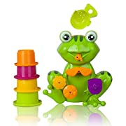 FUN Interactive Frog Bath Toy for Toddlers - For Girls & Boys - the Best Toddler Bath Tub Toys By Zig Zag Kid! Non-toxic, Bright Colors, Safe for Kids! Educational and Fun Toddler Bath Toy!