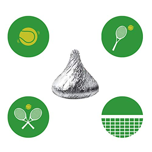 (MAGJUCHE Tennis Candy Stickers, Green Boy or Girl Tennis Ball Themed Birthday or Retirement Party Favor Labels, Fit Hershey's Kisses, 304 Count)