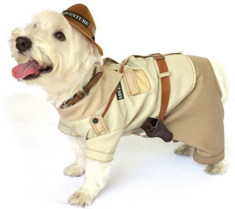 Indiana Jones Pet Costume (Dog Costume INDIANA BONES COSTUMES Jones Adventure Dogs Clothes(Size 5))