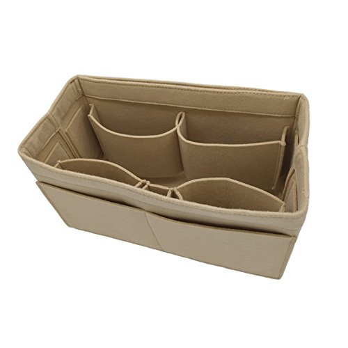 Large Felt Purse Organizer Insert, Multi-Pocket Handbag Shaper, fits Tote Bag like Speedy or Neverfull (Pocket Handbag Organizer)