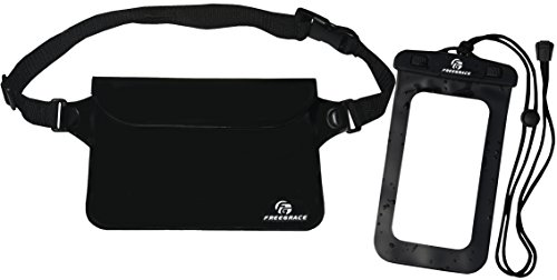 Waterproof Waist Pouch Set with Phone Case - Pure Black -Protect Your Valuable Items Safe