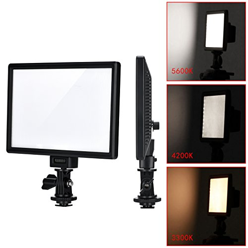 Price comparison product image VILTROX L116T RA CRI95 Super Slim LED Light Panel , 3300K-5600K LED Video Light ,  LCD display screen,  with hot shoe ball mount, Color temperature and Brightness can be adjusted