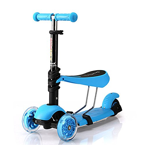 Infant Scooter (Jumphigh Baby Kids Sit Scooter 3-in-1 Kick Scooter with Removable Seat For 2-7 Years Old)
