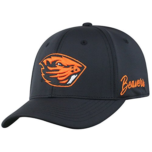 Top of the World Oregon State Beavers Men's Fitted Hat Icon, Orange, One Fit