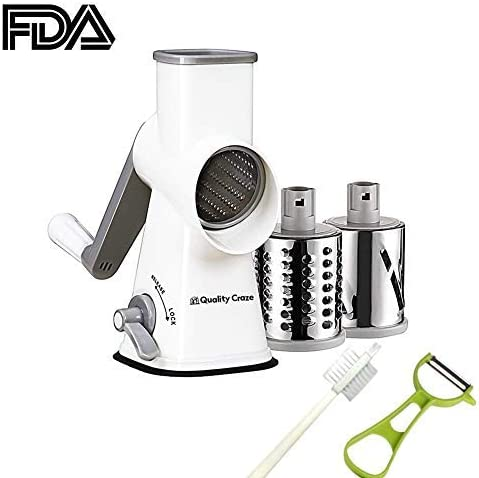 15/% Stainless Steel Cheese Grater Multi Drum Rotary Butter Slicer Kitchen Tool