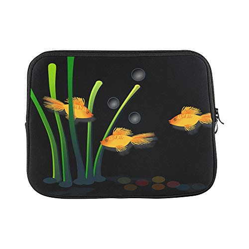 Design Custom Goldfish Fish Aquamarine Aquatic Marine Sleeve Soft Laptop Case Bag Pouch Skin for MacBook Air 11