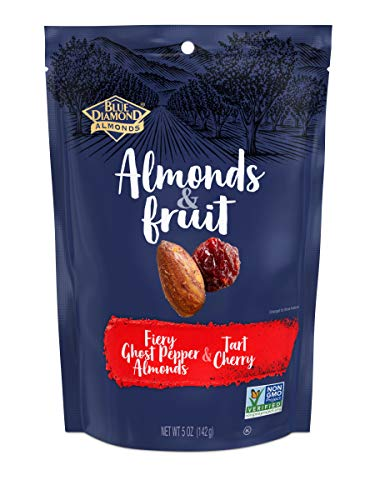 (Blue Diamond Almonds & Fruit Bag, Ghost Pepper Almonds & Tart Cherry, 5 oz)