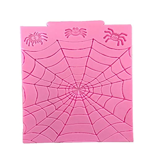 Clay Extruders - Halloween Series Spider Web Silicone Cake Mold Fondant Diy Clay Cupcake Bakeware - Mold Cake Bakeware Tools Silicone Clay Extruders Halloween Mold Spiderman Cake Silicon Moul -