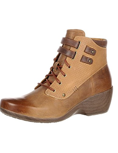 4EurSole Women's Concerto Wedge Ankle Boot,Brown Wheat Leather,EU 42 W by 4EurSole