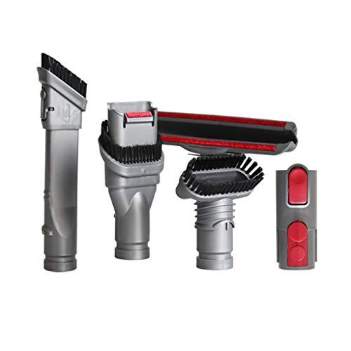 Meidexian888 Fine Mouth Suction Head + Brush + Tranfer Head + Wide Mouth Suction Head + Bed Suction Head, for Dyson V7 V8 V10 Vacuum Cleaner