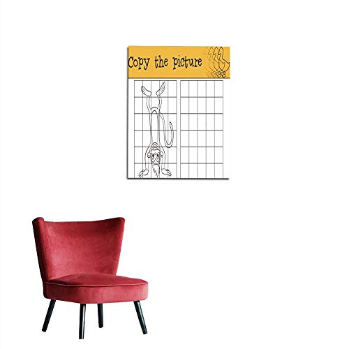 """longbuyer Corridor/Indoor/Living Room Little Cute Monkey Stands Upside Down Mural 20""""x24"""""""