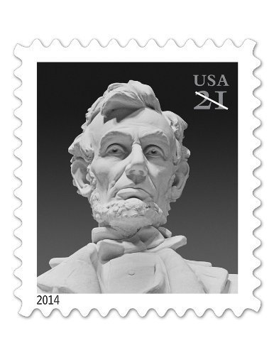 Abraham Lincoln 21 Cent Postage Stamps Sheet