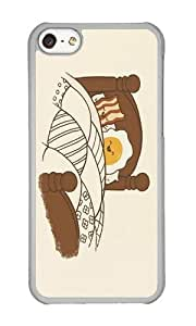 Apple Iphone 5C Case,WENJORS Cool Breakfast In Bed Hard Case Protective Shell Cell Phone Cover For Apple Iphone 5C - PC Transparent