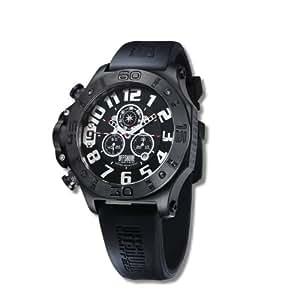 Offshore Limited Tornade 009 B - Reloj cronógrafo de cuarzo para hombre, correa de silicona color negro (cronómetro)