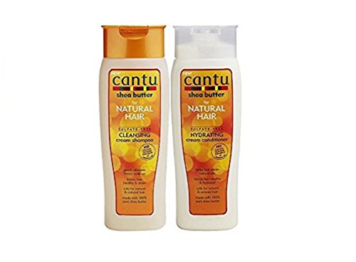 Cantu Shea Butter Cleansing Cream Shampoo 13.5oz & Hydrating Cream Conditioner 13.5oz Duo Set (with Feminine wipes) Review
