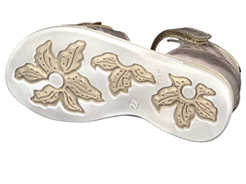 Romagnoli 8471-287 Kinder Lauflern-Sandale in Mittel Gold