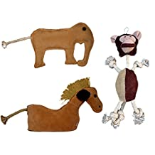Soft Chew Peep Sound Leather Durable Dog Toys (Combo 3 in 1)