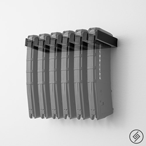 Spartan Mounts - 6X AR-15 PMAG Wall Mount Magazine Display (Best Steel Ar 15 Magazines)