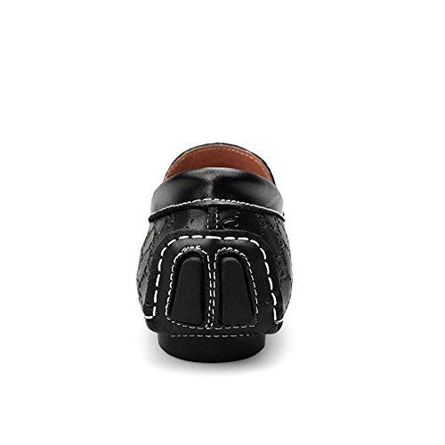 Rismart Mens Mocassini Eleganti Di Alta Qualità In Pelle Goffrata Eleganti Scarpe Da Guida Di Classe Nero 9925 Us11.5