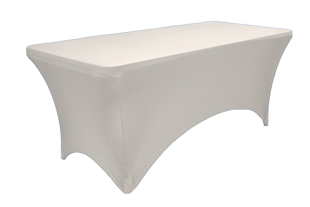Etonnant Amazon.com: 6 Feet Rectangular Spandex Fitted Stretchable Elastic  Tablecloth   White: Home U0026 Kitchen