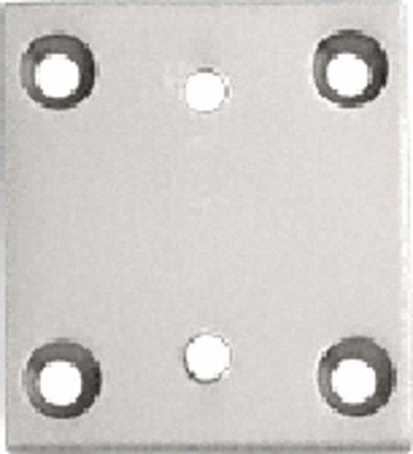 CRL Brushed Nickel Geneva Series 074 Wall Mount Plate