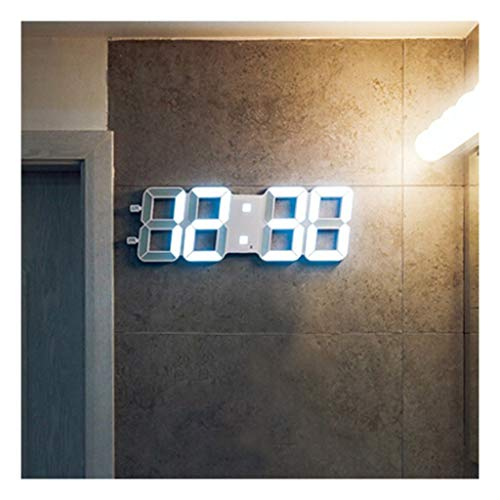 (XLong-Clocks LED Electronic Wall Clock, Living Room Clock, Creative 3D Digital Wall Clock, Transparent Line)