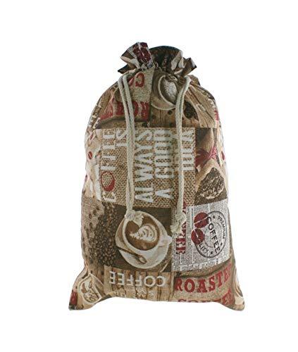 CAL FUSTER - Bolsa para el pan de tela estampada, Café ...