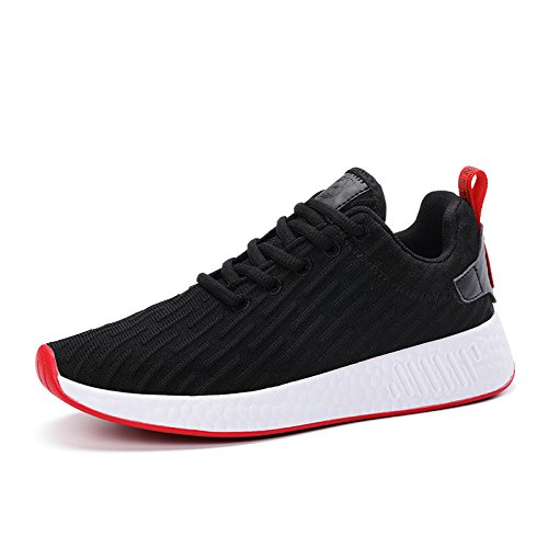 Mesh Mishansha on Running Red Men Comfortable Walking Black Lightweight Women Sneakers Breathable Shoes Fashion Slip Soft wRqxrRXf