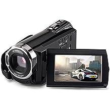 Videocámaras, brightworld Digital Cámara de vídeo HDMI 1920x 1080P FHD Cámara WIFI, visión nocturna 30FTPS Videocámara de vídeo portátil con visualización táctil, 16x Zoom Digital (Negro)