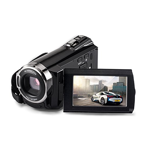 Camcorders, Brightworld Digital Video Camera HDMI 1920x1080p Portable FHD WIFI Camera, Night Vision 30FTPS Video Camcorder with Touchscreen, 16X Digital Zoom(Black)