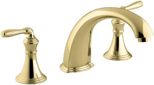 (KOHLER K-T398-4-PB Devonshire Deck-/Rim-Mount High-Flow Bath Faucet Trim, Vibrant Polished)