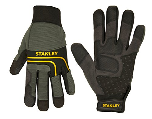 Black Synthetic Leather Multi-Purpose Work Gloves with Silicone Dotting ()