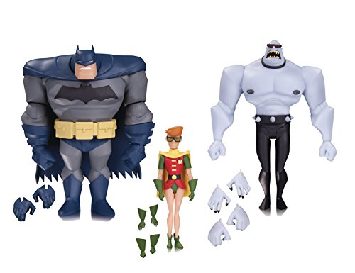 DC Collectibles Batman: The Animated Series: Batman, Robin & Mutant Leader Action Figure (3 Pack) ()