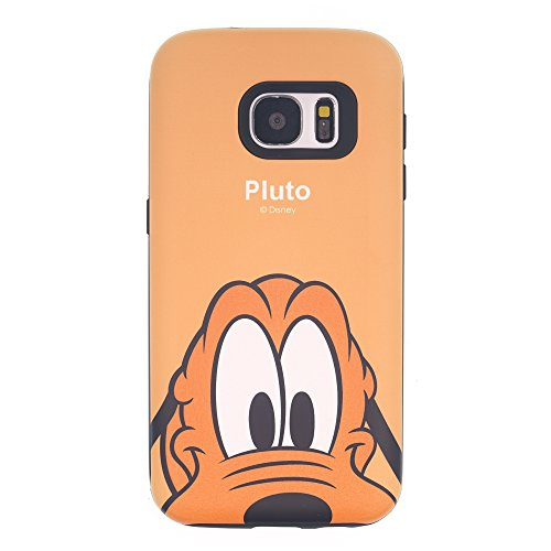 Funda Galaxy S8 [Protección híbrida contra caídas] DISNEY Minnie Mouse Linda Doble Capa Hybrid Carcasas [TPU + PC] Parachoques Cubierta para [ Samsung Galaxy S8 ] - Minnie Mouse Idea Pluto Orange (Galaxy S8)