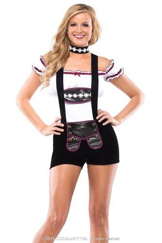 Hockey Player Costume Women (Coquette Women's Hockey Player, White/Black/Pink, Small/Medium)