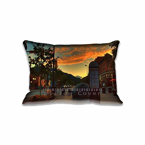Home Decor West End of Pearl Street Mall, Boulder Colorado Standard Pillow Protector Zippered Pillow Covers Cushion Case 16X24 - Mall In Colorado Best Springs