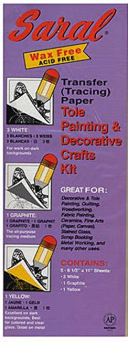2 pcs sku# 1827341MA Saral Transfer Tracing Paper Tole Painting and Decorative Crafts Pack of 5 Sheets