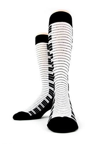 Men's Piano Keyboard Trouser Socks by Foot Traffic, Men's shoe size 7-12