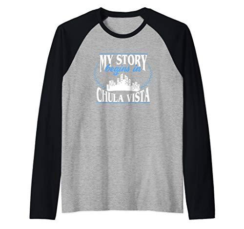 - Chula Vista shirt | Born in Chula Vista Raglan Baseball Tee