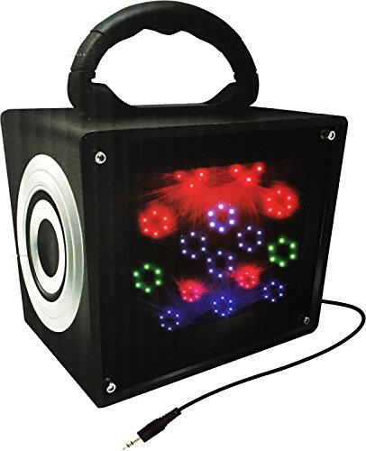 LED Stereo Box - Color Changing Speaker - Flashing LED Lights - 3.5mm Aux Cable Only by Vibe Sound