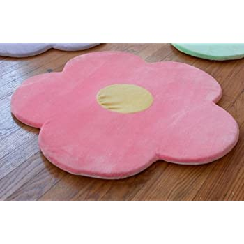 Pink Flower Area Rug For Kids Girls Room, Girls Area Rugs, Girls Room U0026